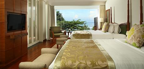 ベッドルーム オーシャンプールスイートのベッドルーム一例